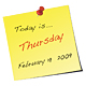 Post-it Note Daily Calendar - ActiveDen Item for Sale