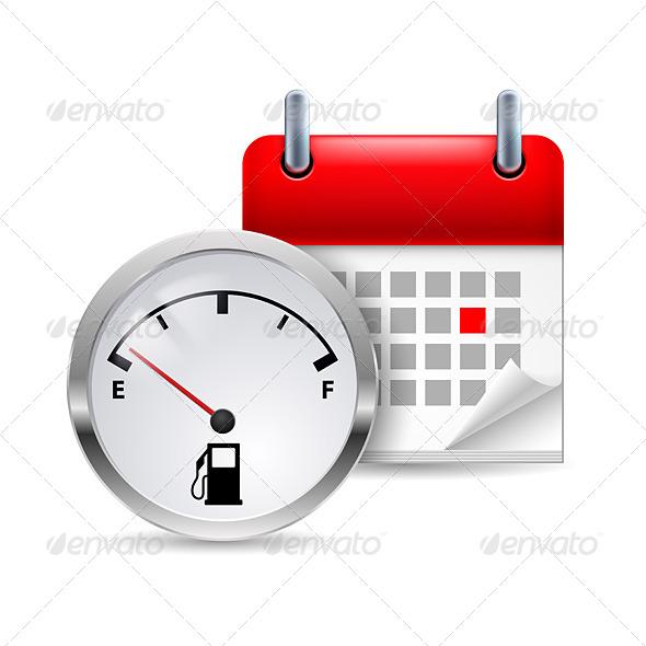 GraphicRiver Fuel Indicator and Calendar 7103917