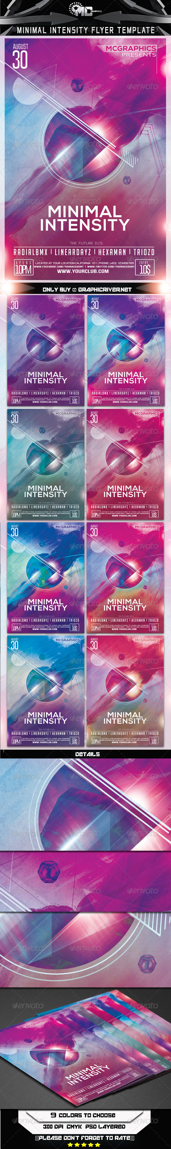 GraphicRiver Minimal Intensity Flyer Template 7104047