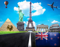 Travel the world conceptual image - Visit New Zealand - PhotoDune Item for Sale