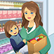 Mother Carrying Child and Groceries - GraphicRiver Item for Sale