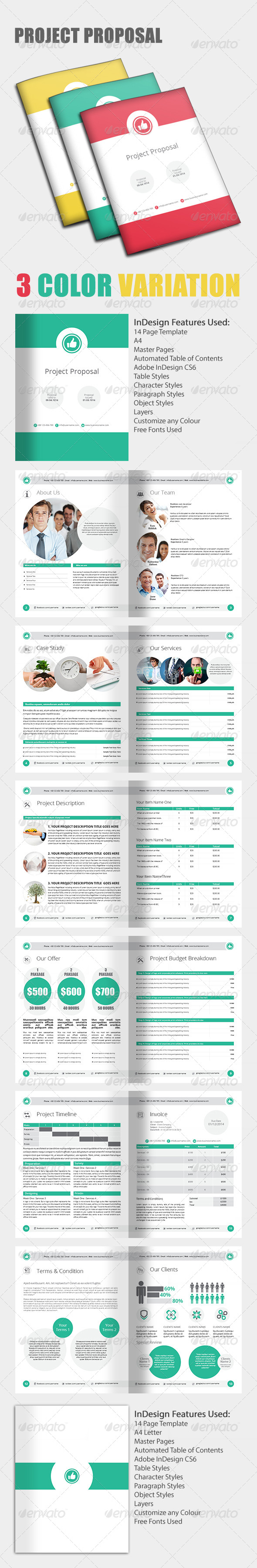 GraphicRiver Project Proposal Template 7078758