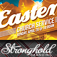Easter Sunday Church Service Flyer Template - GraphicRiver Item for Sale