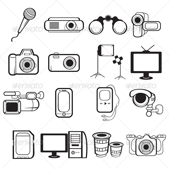 GraphicRiver Electronic Equipment Icons 7104553