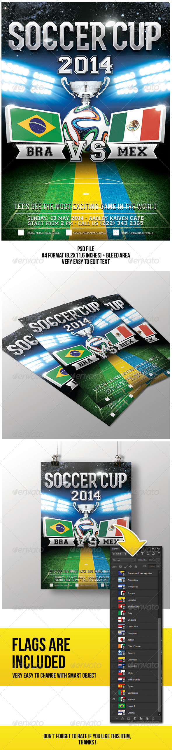 GraphicRiver Soccer Cup Flyer 7069139