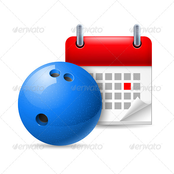 GraphicRiver Bowling Ball and Calendar 7104686
