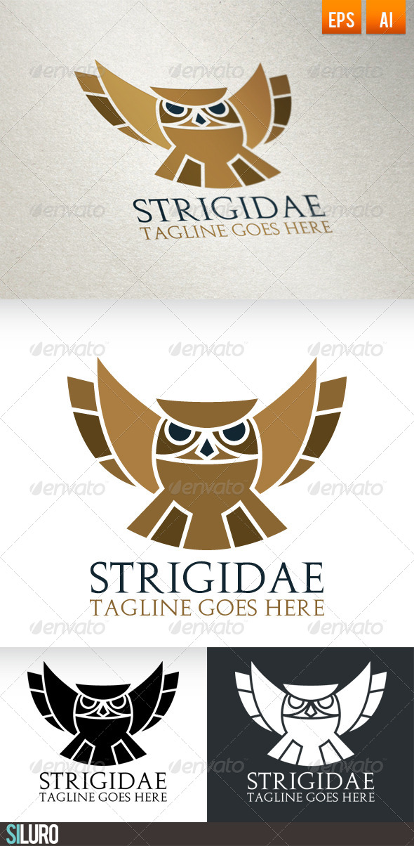 GraphicRiver Strigidae Logo 7053936