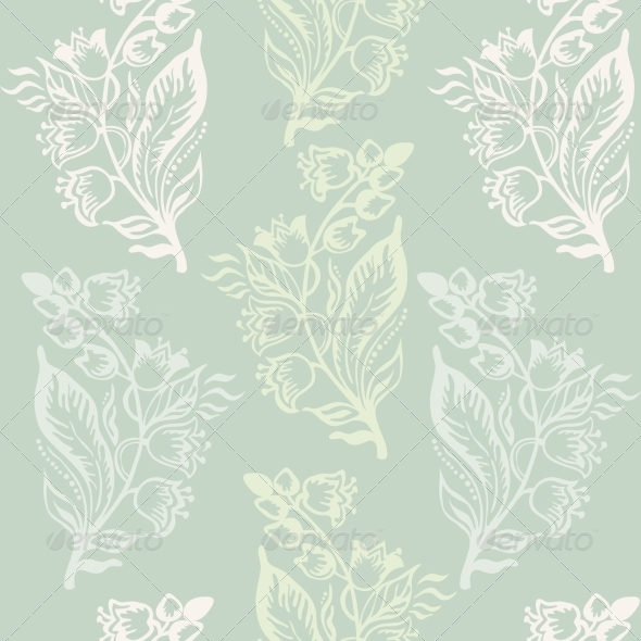 GraphicRiver Seamless Pattern with Floral Background 7106938