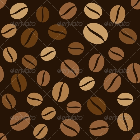 GraphicRiver Coffee Beans Seamless Pattern 7108693