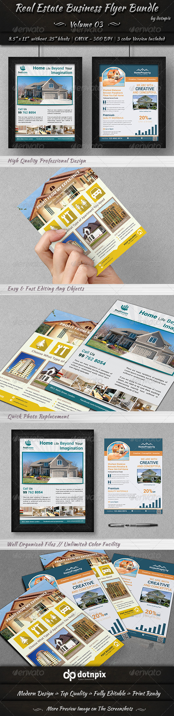 GraphicRiver Real Estate Business Flyer Bundle Volume 3 7109793