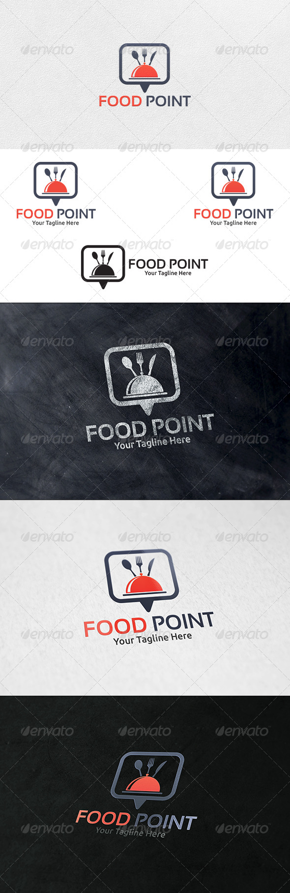 GraphicRiver Food Point V2 Logo Template 7110801