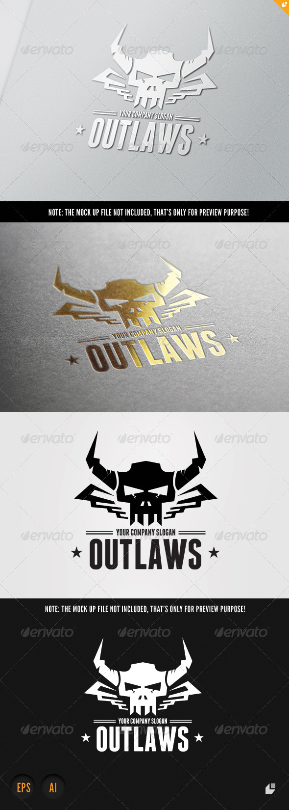 GraphicRiver Outlaws Logo 7111255