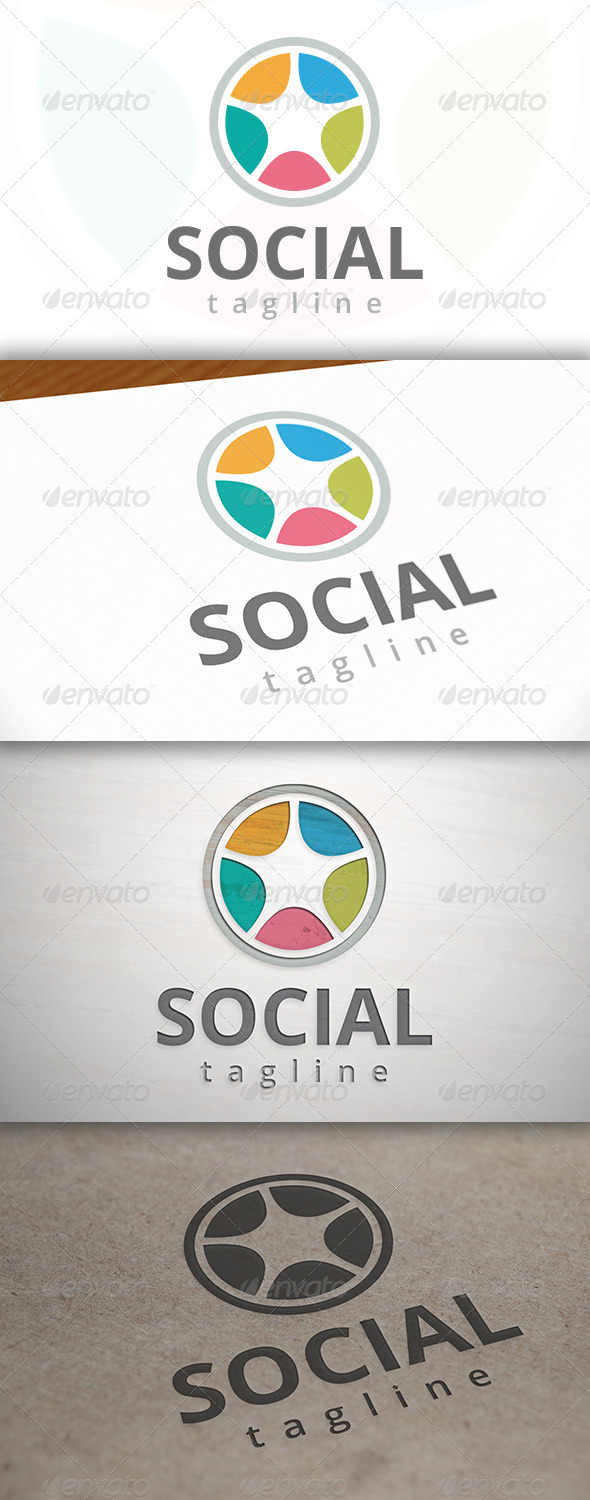 GraphicRiver Social Wheel Logo 7111266