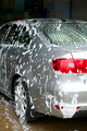 car covered with foam at the car wash - PhotoDune Item for Sale