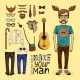 Hipster Set - GraphicRiver Item for Sale