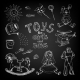 Chalkboard Toys for Girls and Boys - GraphicRiver Item for Sale