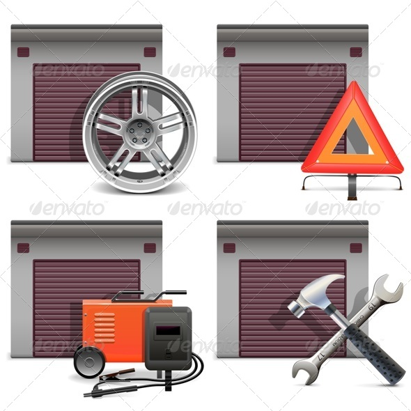 GraphicRiver Garage Icons Set 3 7111840