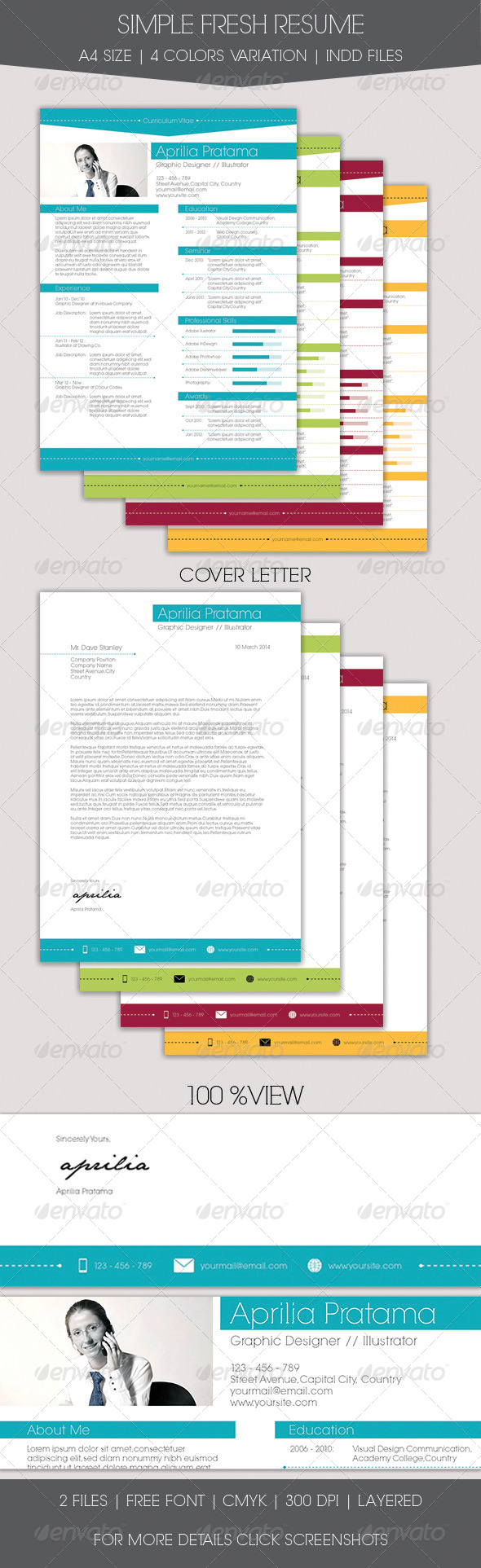 GraphicRiver Simple Fresh Resume 7111982