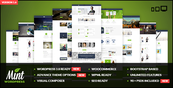 Mint - Responsive Multi-Purpose WordPress Theme - Business Corporate