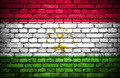 Brick wall with painted flag of Tajikistan - PhotoDune Item for Sale