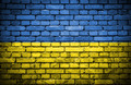 Brick wall with painted flag of Ukraine - PhotoDune Item for Sale
