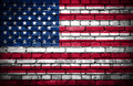 Brick wall with painted flag of United States of America - PhotoDune Item for Sale