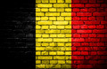 Brick wall with painted flag of Belgium - PhotoDune Item for Sale