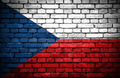Brick wall with painted flag of Czech Republic - PhotoDune Item for Sale