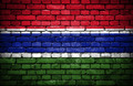 Brick wall with painted flag of Gambia - PhotoDune Item for Sale