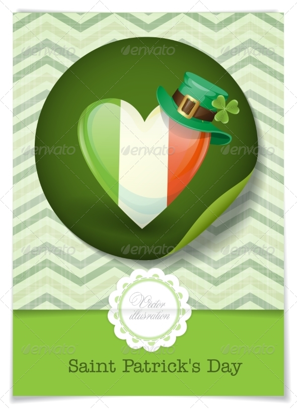 GraphicRiver Irish Flag In the Shape of a Heart 7113150