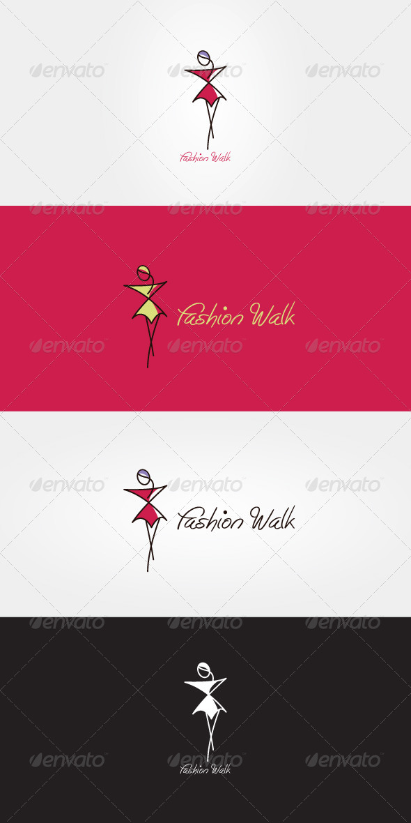 GraphicRiver Fashion Walk Stock Logo Template 7113209