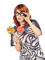 Crazy Woman With Lollipop - PhotoDune Item for Sale