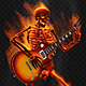 Fiery Skeleton With a Guitar - VideoHive Item for Sale