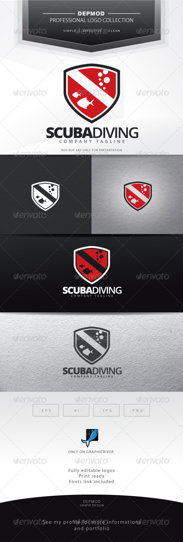 GraphicRiver Scuba Diving Logo 7114121