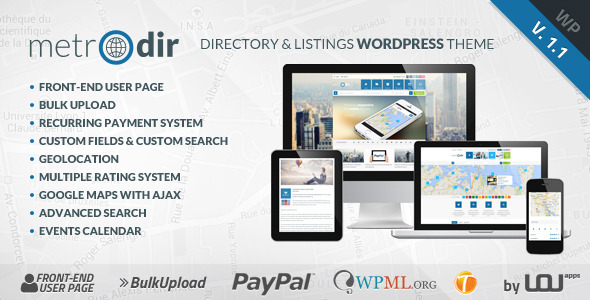 Metrodir - Directory & Listings WordPress Theme - Miscellaneous WordPress