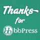 bbPress Thanks - WordPress Plugin