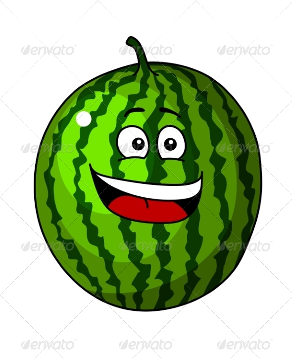 GraphicRiver Green Cartoon Watermelon 7119268