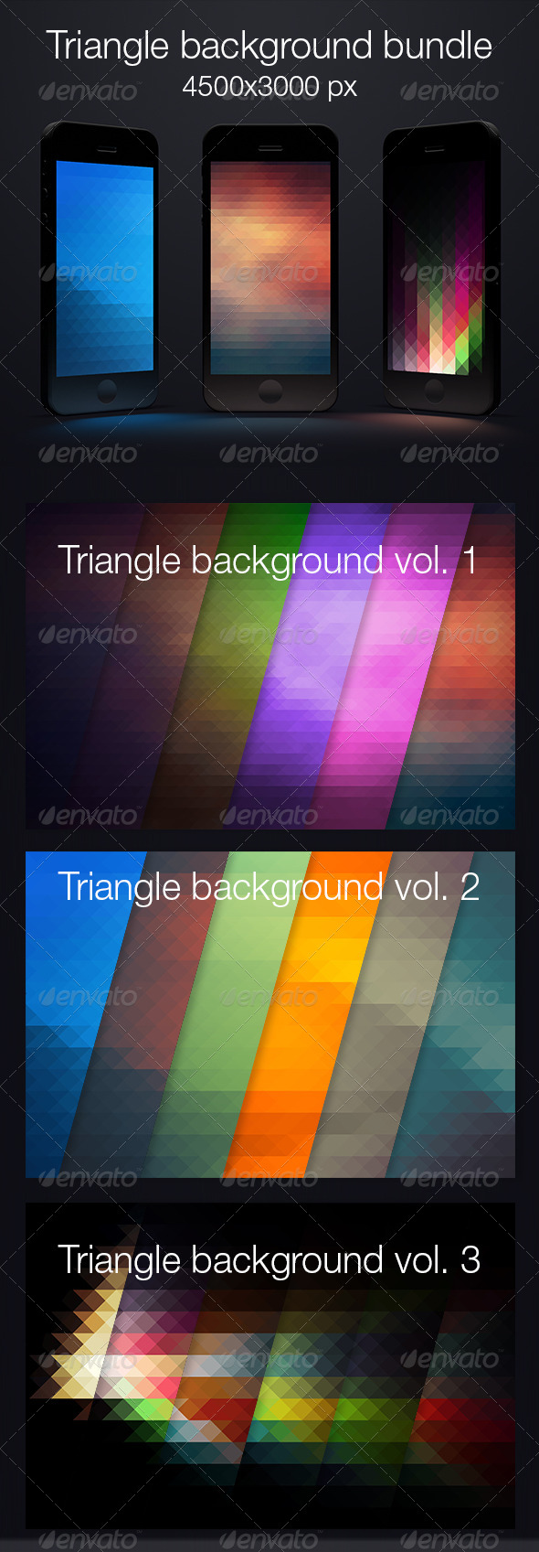 GraphicRiver Bundle triangle background 7119365
