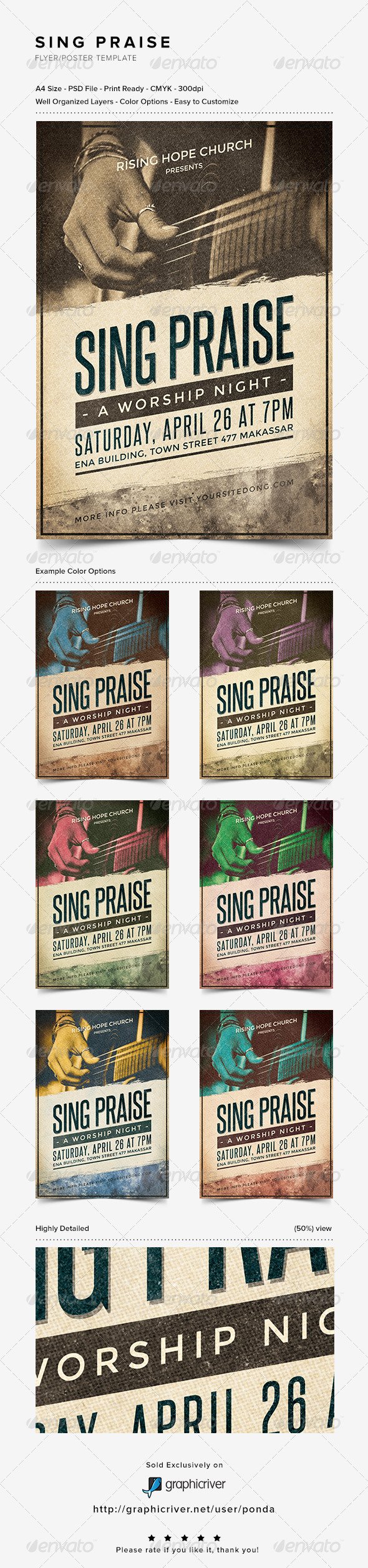 GraphicRiver Sing Praise Flyer Poster Template 7120427