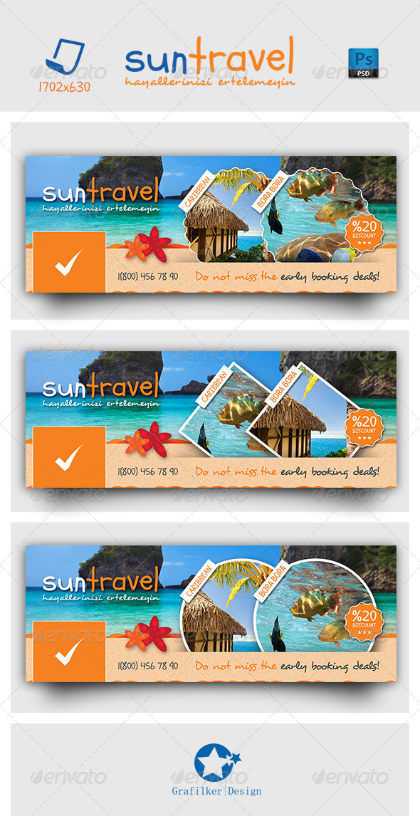 GraphicRiver Travel Tours Face Timeline Templates 7121178