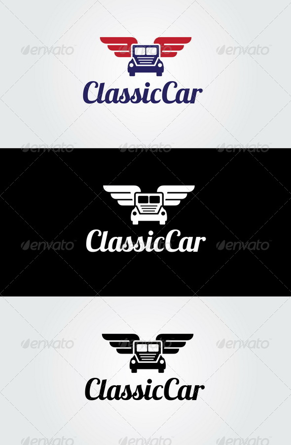 GraphicRiver Classic Car Logo Template 7121284