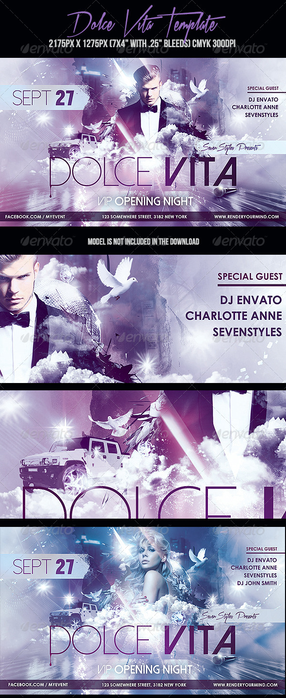 GraphicRiver Dolce Vita Flyer Template 7122095