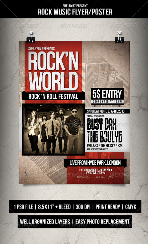 GraphicRiver Rock Music Flyer Poster 7122580