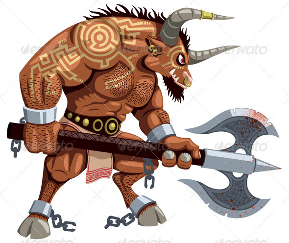 GraphicRiver Minotaur on White 7122832