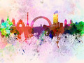 Kiev skyline in watercolor background - PhotoDune Item for Sale