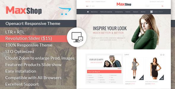 ThemeForest Maxshop Responsive Opencart Theme 7123348