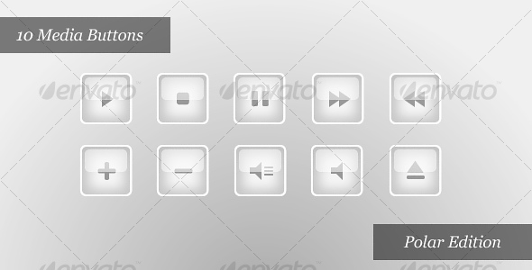 GraphicRiver Media Player Icons Polar Edition 29679