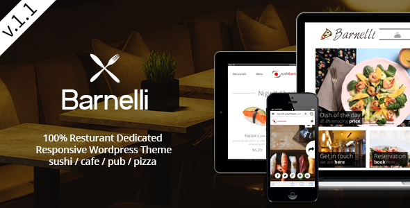 Barnelli - Restaurant HTML5 Responsive Template - Restaurants & Cafes Entertainment