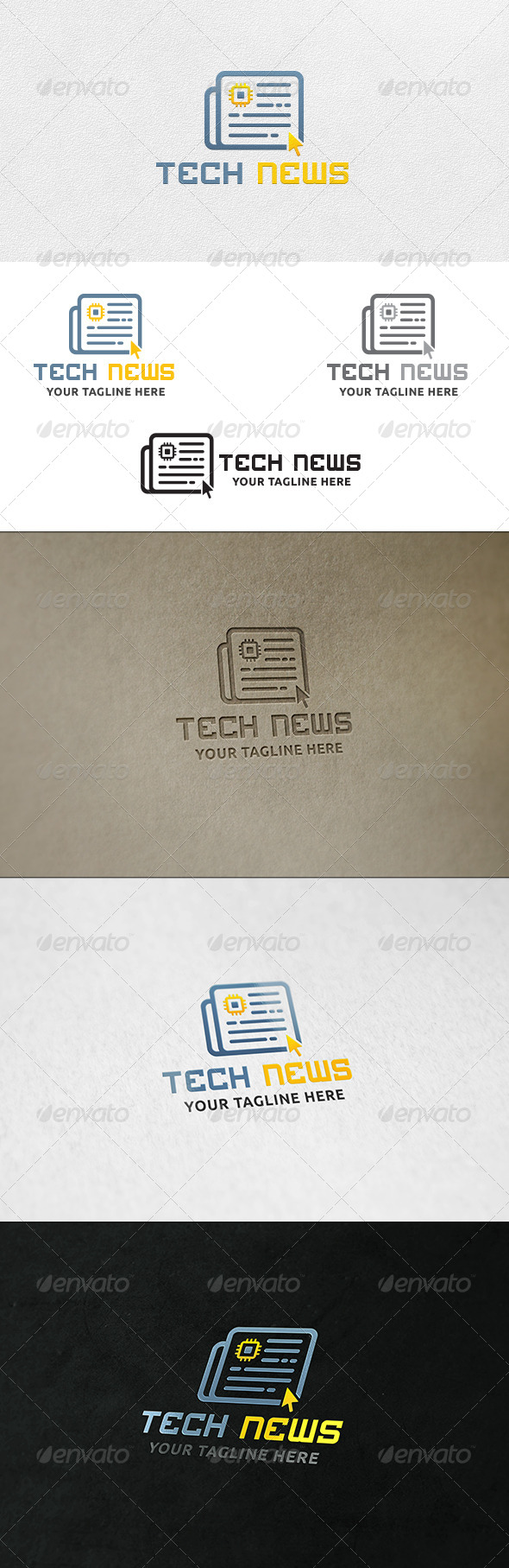 GraphicRiver Tech News Logo Template 7126281
