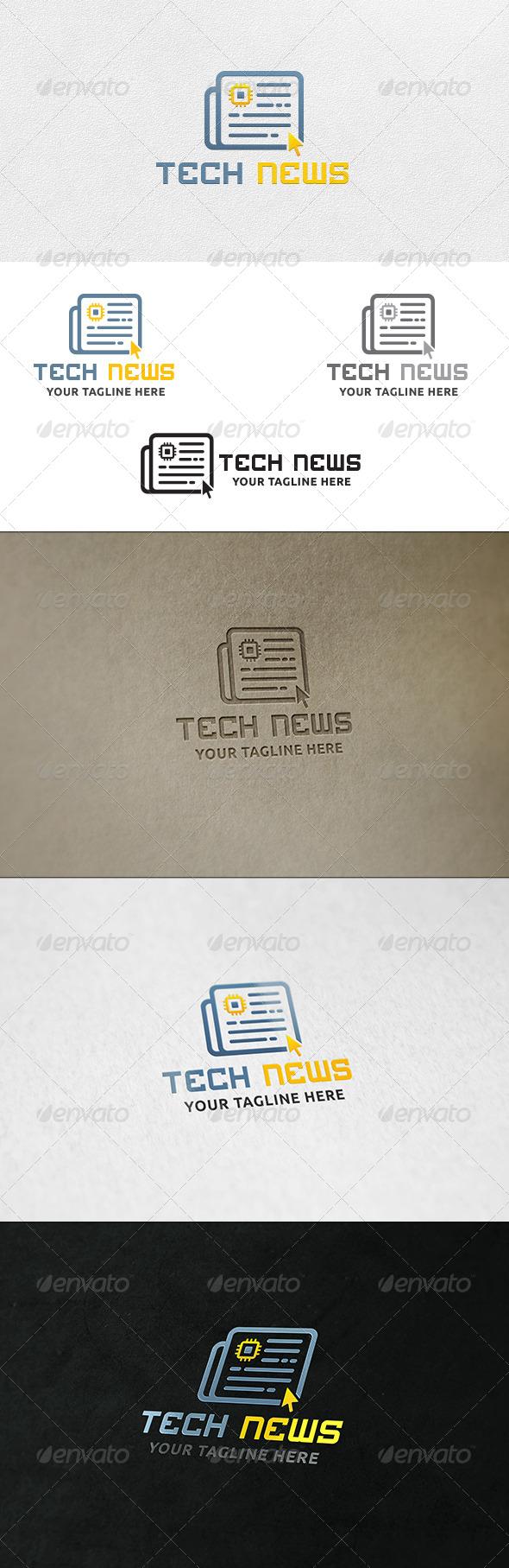 GraphicRiver Tech News Logo Template 7126281